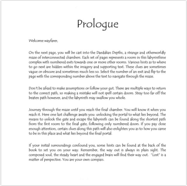 daedalian depths prologue